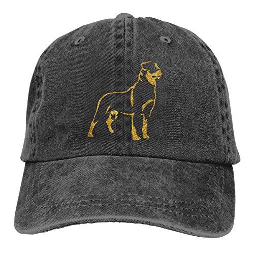 (Jeans Hat Rottweiler Baseball Cap Sports Cap Adult Trucker Hat Mesh Cap Black)