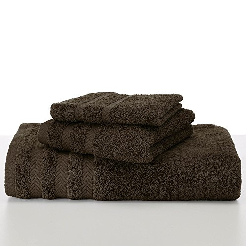 EGYPTIAN COTTON DRYFAST BODY SHEET BY MARTEX - Premium, Luxurious, Top Hotel Quality - Soft, Absorbent, Machine Washable, Quick Drying - Dark Brown