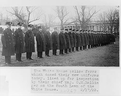 ClassicPix Photo Print 8x10: The White House Police Force Which Doned Sic Their New Uniforms. ()