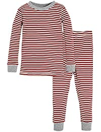 Unisex Pajamas, Tee and Pant 2-Piece PJ Set, 100% Organic...