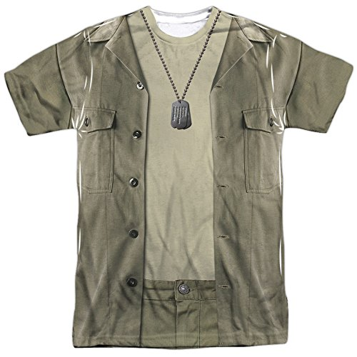 Shows Costumes Tv (Mash Hawkeye Costume Short Sleeve Adult Poly Crew White)