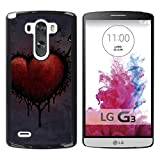 For LG G3 , S-type Love Red - Colorful Printed Hard Protective Back Case Cover Shell Skin