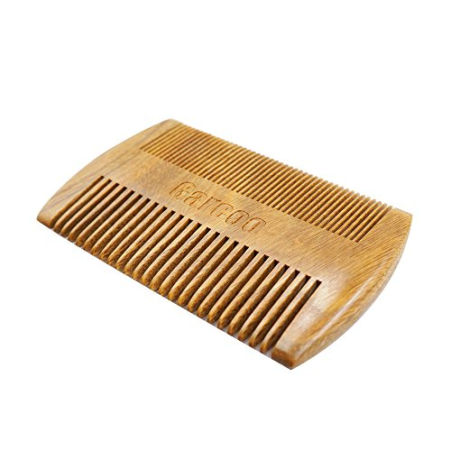 Garcoo Green Sandalwood Pocket Beard Comb | Anti-Static Natural Aroma | Handmade Premium Comb for Beard  Moustache Grooming | Coarse Tooth Pocket Siz…