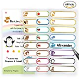 #4: Baby Bottle Labels for Daycare,School, Waterproof Write-On, Self-laminating Name Labels, Tags, Sticker Multiple Colors(Animal Friends)