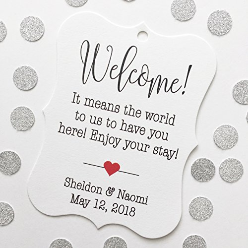 Welcome! Destination Hotel Bag Wedding Favor Hang Tags (EC-184)