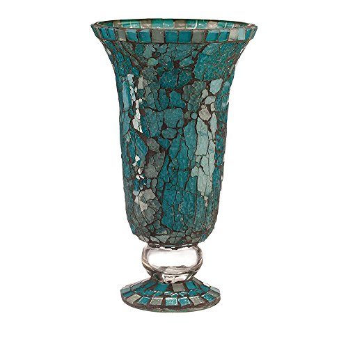 Moon Votive Blue (Amber Home Goods Blue Moon Glass Hurricane, Large)