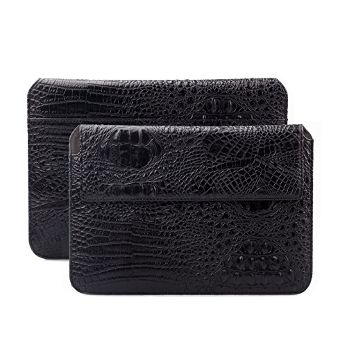 Caiman Croc (MacBook Pro & Air 13 Case | suitably for from 11.6 to 14.0 inches Laptop Notebook | Crocodile Croc black | iCues Piquante Cover | other leather and colour variations available Sleeve Envelope Bag)