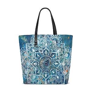 Patty Loves Blue Art Tote Bag Purse Handbag Womens Gym Yoga Bags for Girls