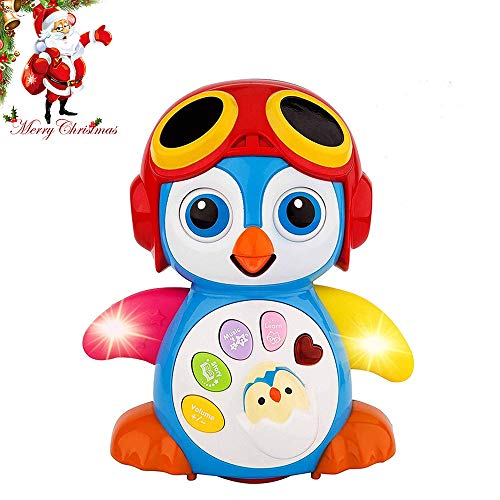 - HOMOFY Baby Toys 6 to 12 Months up ,Lovely Smart Swing Dancing Penguin Early EQ Education ,Music and Learning ,Walking ,Singing,Flashing LED Lights, Voice Answers Gifts Toys for Baby