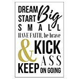11 X 17 Black White Gold Motivational Poster Inspirational Text Wall Decor Office