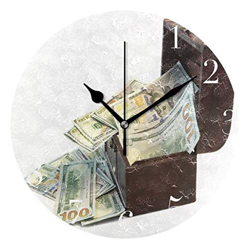NMCEO Round Wall Clock Money and Cashbox Acrylic Original for sale  Delivered anywhere in USA