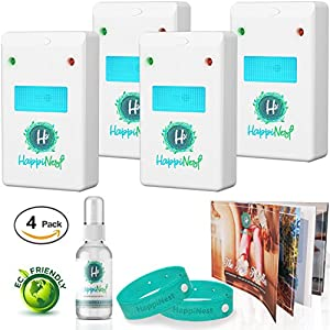 HappiNest Ultrasonic Pest Repeller【UPGRADED EDITION 2018】 Mice Repellent | Pest Control for Rodents, Roaches, Bugs, Spiders, Ants, Mice, Fleas
