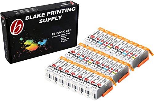 28 Pack Blake Printing Supply CLI-251XL 251 XL PGI-250XL 250 XL Ink Cartridges for Canon PIXMA iP7220 iX6820 MG5420 MG5422 MG5520 MG5522 MG5620 MG5622 MG6420 MG6620 MX722 MX922 (Printing Supplies)