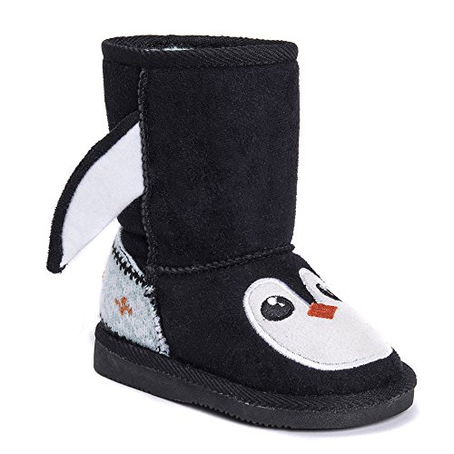 Price comparison product image Muk Luks Unisex-Kids Echo Penguin Fashion Boot, Black, 11 M US Little Kid