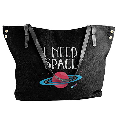 Astronomy Black Tote Handbag Women's Handbags Funny Science Large Canvas Planet's Shoulder 6Rgg0vWa