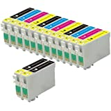Odyssey Supplies - Cartucho de tinta compatible con impresoras Epson Stylus (modelos: sx420, sx425w, sx435w, sx440w, sx445w, sx525wd, sx535wd, sx620fw, bx925fw, office b42wd, bx305f, bx305fw, bx320fw, bx525wd, bx535wd, bx625fwd, bx635fwd, bx925fwd, bx935fwd), color negro 14 unidades