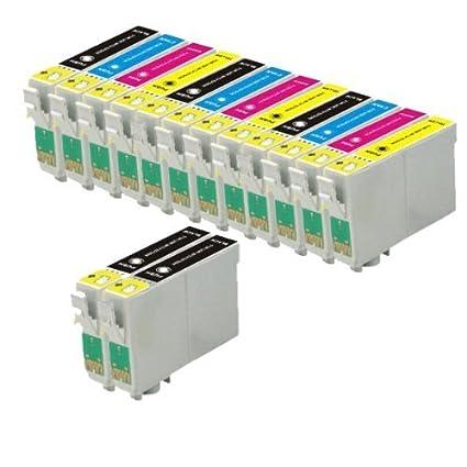 Odyssey Supplies - Cartucho de tinta compatible con impresoras Epson Stylus (modelos: sx420, sx425w, sx435w, sx440w, sx445w, sx525wd, sx535wd, ...