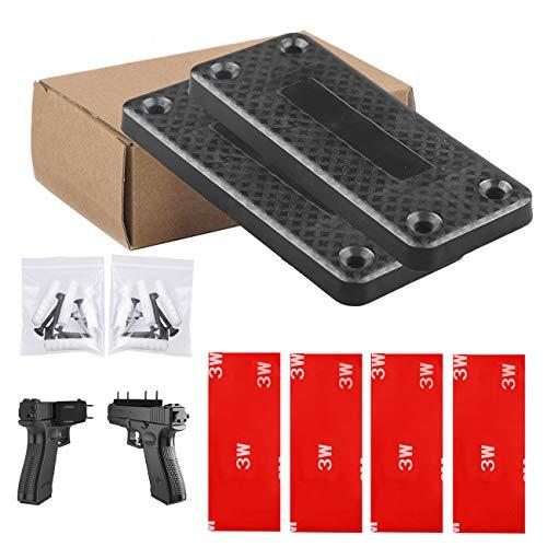 2 Pack Magnet Gun Mount, X.Store Rubber Coated 37 Lbs Rated Magnetic Gun Holder  For Handgun, Shotgun, Rifle - Gun Magnet Firearm Accessories