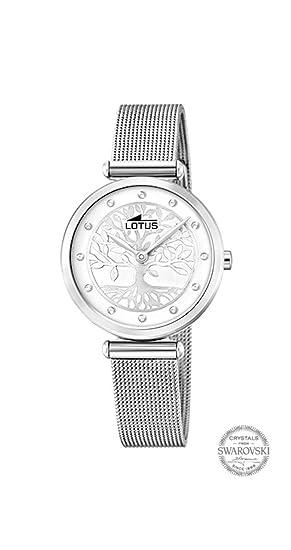 801ae1cb4457 Reloj Lotus Bliss Swarovski 18708 1 Mujer Esfera Banco con Árbol de la Vida  Caja 29 MM Correa Acero  Amazon.es  Relojes