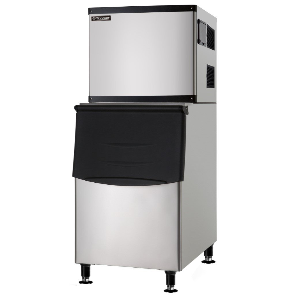 Full Cube High Capacity Commercial Ice Machine with Insulated Storage Bin - 500 lb. - Air Cooled