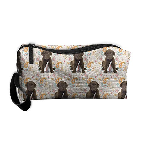 Travel Makeup Puppy Chocolate Lab Kisses Cosmetic Pouch Makeup Travel Bag Purse Holiday Gift For Women Or Girls