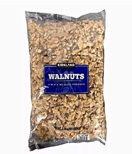 2 Pack Kirkland Signature Walnuts US #1 Quality (Two 48 OZ Packs) 6LB