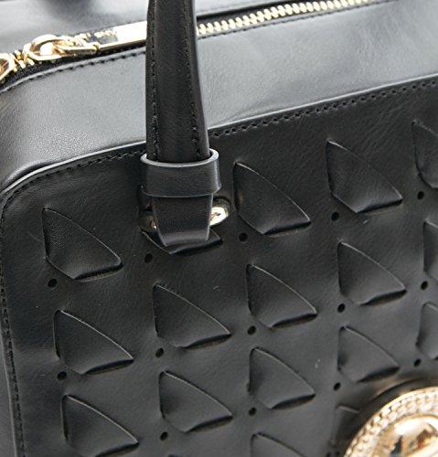Gabbia Nappa Jeans D Borsa Dis 3 Nero Versace Donna Sq0HwqY