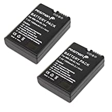 Fosmon ( 2 Pack ) 7.4V 1500 mAh (Fully Decoded) Replacement Nikon EN-EL14 / EN-EL14a Battey Pack for Nikon D5300, D3300, D5100, D5200, D3100, Nikon Df and D3200, P7000, P7100, P7700 Digital Cameras
