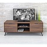 Design Twist Jack Porta TV, Melaminico, Noce, 154x50.1x56.1 cm