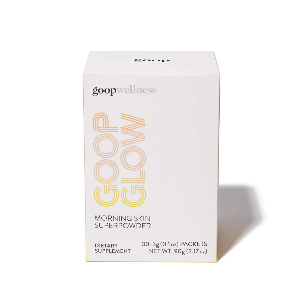 GOOPGLOW Morning Skin Superpowder - 6 Plant Based Antioxidants - Vitamins C & E, Coq10, Grape Seed Extract, Lutein and Zeaxanthin - Glow Your Skin (30 Pack)
