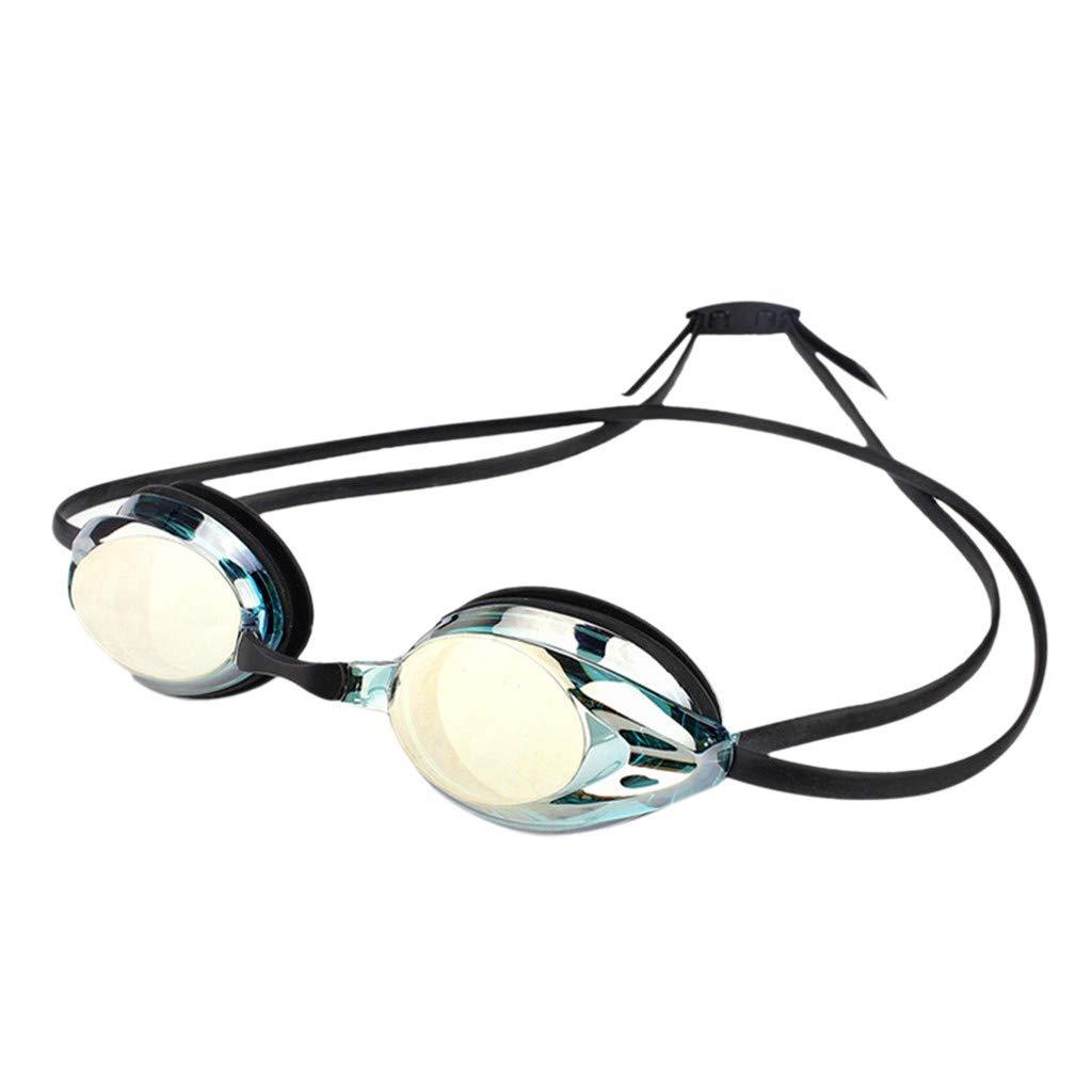 Haluoo スイミングゴーグル 水泳ゴーグル ユニセックス 大人 メンズ レディース プロフェッショナル 曇り止め 水漏れなし クリアビュー ダイビング ゴーグル メガネ アイウェア マスク  ブルー B07M6PMBH1