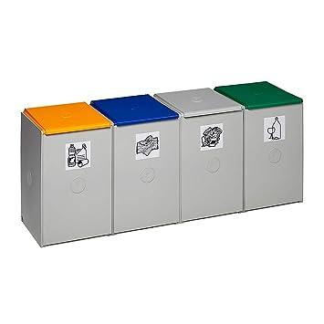 Als 4-fach Sammelstation Var Wertstoff-trenn Und Sammelbehälter Für 60 L,