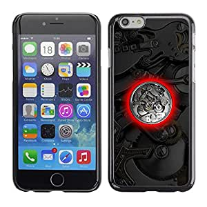LECELL -- Funda protectora / Cubierta / Piel For Apple iPhone 6 -- Watch Mechanics --
