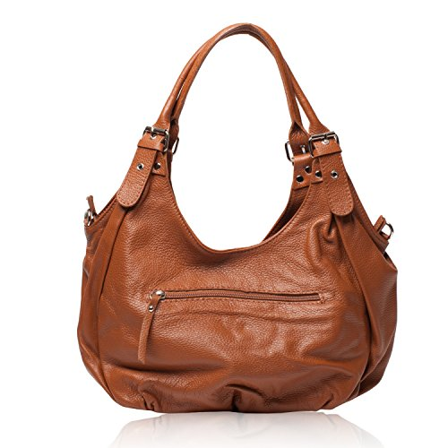 OH MY BAG Borsa pelle donna - Modello St Trop - Borsa a mano e a spalla rosso
