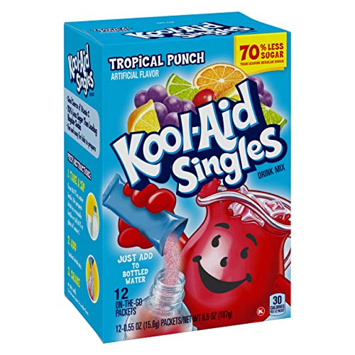 Kool-aid Singles Tropical Punch 12-0.55 OZ Packets (Pack - 1)