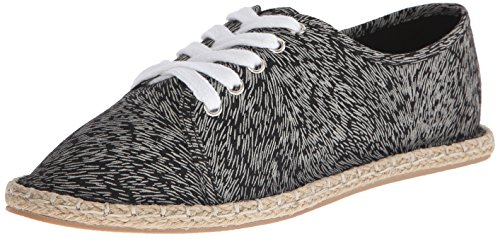 Qupid Womens Mermosa-21 Ballet Flat Black / Multi
