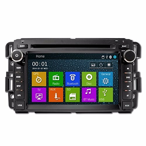 GMC SIERRA 2007-2013 K-SERIES IN DASH BLUETOOTH AM/FM RADIO GPS NAVIGATION TOUCHSCREEN DVD MP3 MP4 MULTIMEDIA SYSTEM - his unit will fit: GMC 07-13 Sierra GMC 07-12 Acadia GMC 07-11 Yukon Chevy 07-12 Silverado Chevy 08-11 Express Van Chevy 07-12 Suburban Chevy 07-12 Tahoe ()