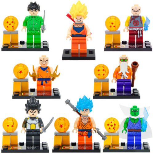 [TONGROU 8pcs/set Super Saiyan Goku Kakarotto Vegeta Freezer Piccolo Juguet] (Power Ranger Costumes Ebay)