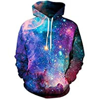 Sperrins Unisex 3D Printed Pullover Hoodies Funny Graphic Hooded Sweatshirts with Big Pocket