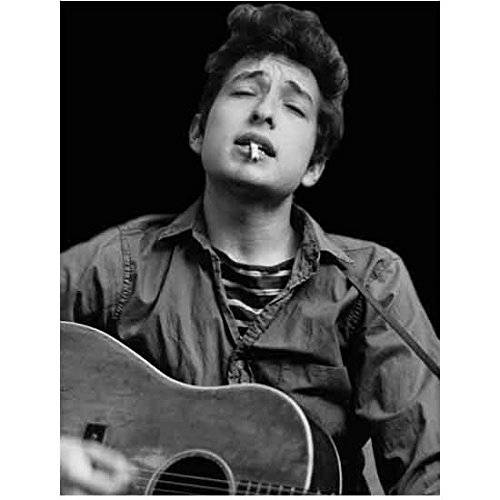 Bob Dylan Young Head Shot Singing and Smoking 8 x 10 Inch - Out X Order Track