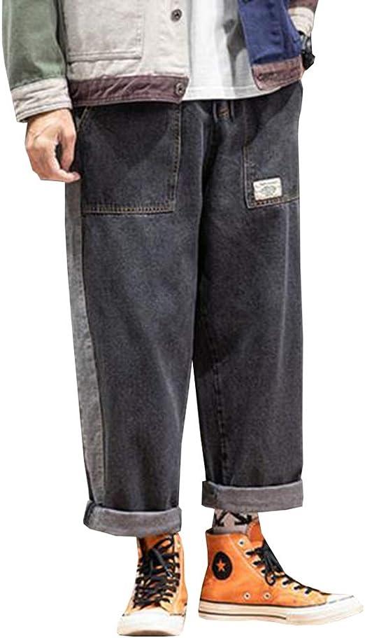 Feellway メンズ ワイドパンツ ジーンズ 秋冬 ファッション デニムパンツ C0347
