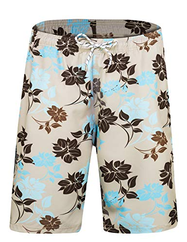 APTRO Men's Swim Trunks Beach Holiday Bathing Suits Swimwear B013 S Off White (Best Man Suit Ideas)