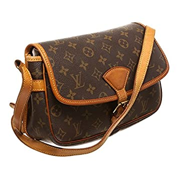 b19d66b4b471 Louis Vuitton Pre-Owned Monogram Canvas Leather Sologne Crossbody Bag   Amazon.co.uk  Luggage