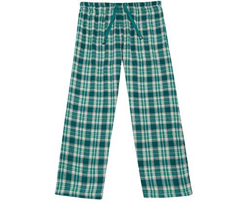 Big Dog Lounge Pants (Big Dogs Women s Flannel Plaid Lounge Pant M Teal-Gray)