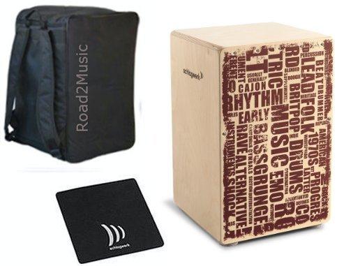 Schlagwerk Cajon X-One CP-130 Styles inkl Rucksack Tasche und Sitzpad