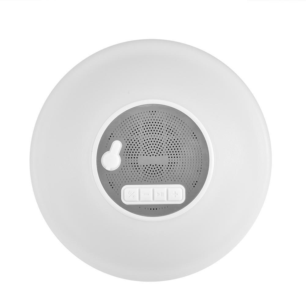 fosa Altavoz Bluetooth 4,2 IPX7 Impermeable para Uso Incluido en Áreas Húmedas, Altavoz Inalámbrico con Luz LED (7 Colores Románticos) Micrófono Manos Libres