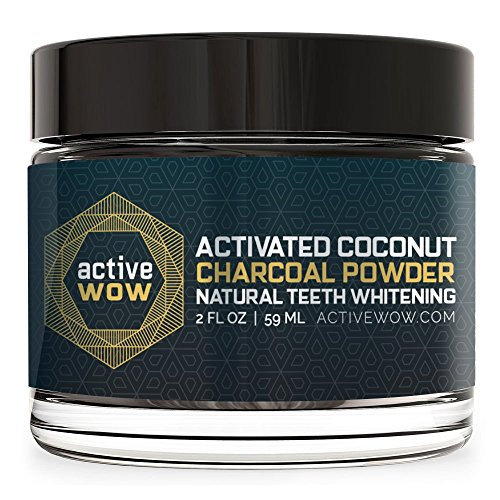 最好的交易 Active Wow Teeth Whitening Charcoal Powder Natural
