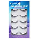 Stephany Natural Multipack 5 Pairs False Eyelashes, Easy to Apply Fake Eyelashes, Reusable Light Weight Eye Lashes (D 01)