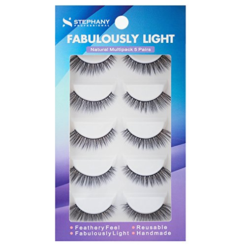 Stephany Natural Multipack 5 Pairs Fake Eyelashes (D 01) ()