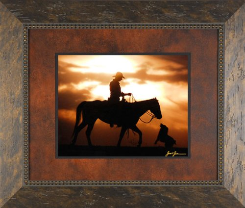 best-friends-james-jones-26x22-gallery-quality-framed-print-photography-horses-dogs-western-cowboys